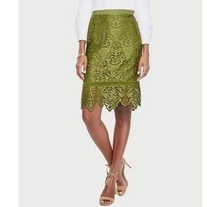 NWT Ann Taylor Botanical Lace Pencil Skirt Size 12